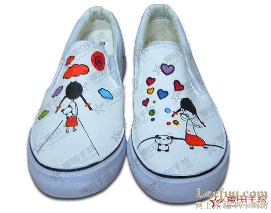 09年时尚手绘帆布鞋手绘运动鞋